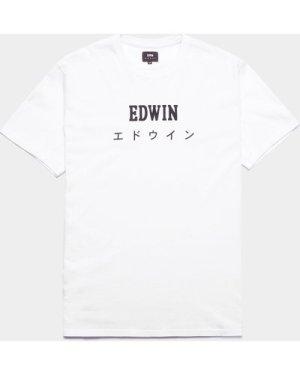 Men's Edwin Japan Logo Short Sleeve T-Shirt White, White/White