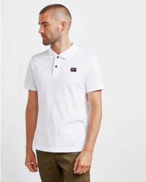 Men's Paul and Shark Core Short Sleeve Polo Shirt White, White/White