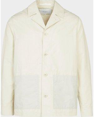 Men's Norse Projects Nylon Pocket Overshirt White, Cream