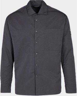 Men's Paul and Shark Woven Long Sleeve Shirt Black, Black