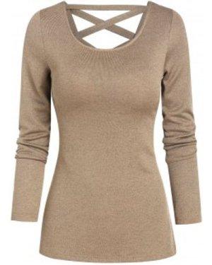 Lace-up Back Long Sleeve T-shirt