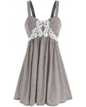 Guipure Insert Heather Tank Dress