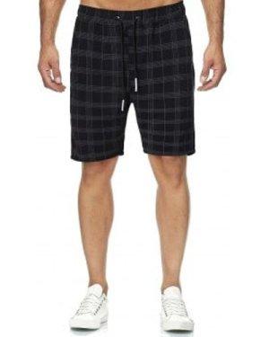Plaid Print Drawstring Casual Shorts