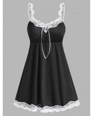 Lace Panel Night Dress