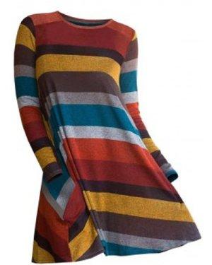 Striped Longline Long Sleeve Knitwear