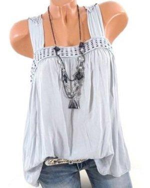 Plus Size Butterfly Lace Crochet Tank Top