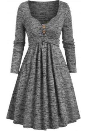 Space Dye Sweetheart Neck Crisscross Mini Dress