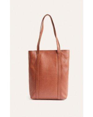 Womens Leather Tote Bag - tan, Tan