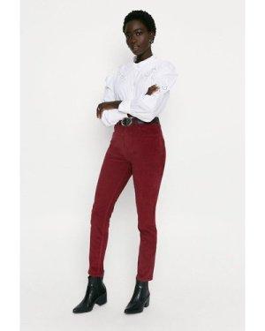 Womens Cord Skinny Jean - burgundy, Burgundy