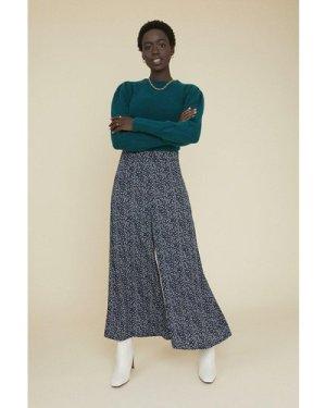 Womens Ditsy Wide Leg Trouser - blue, Blue