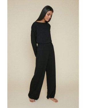 Womens Loungewear Wide Leg - black, Black