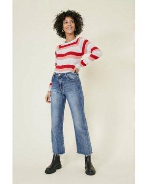 Womens Cosy stripe jumper - multi, Multi