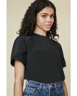 Womens Trim Detail Shell Top - black, Black