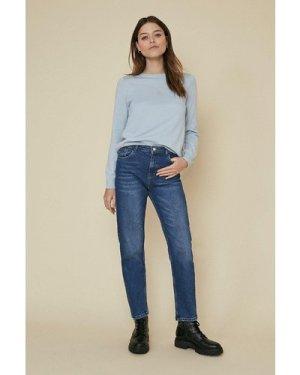 Womens Knit Lace Back Jumper - pale blue, Pale Blue