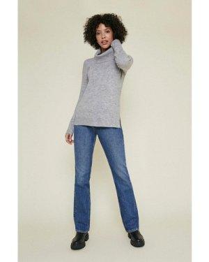 Womens Grey Cowl Neck Jumper, Grey