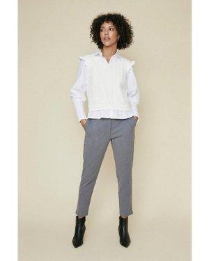 Womens Elastic Back Trouser - grey, Grey