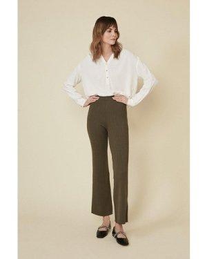 Womens Super Soft Rib Trouser - khaki, Khaki