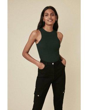Womens Skinny Cargo Jean - black, Black