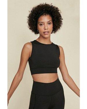Womens Plain Sports Bra - black, Black