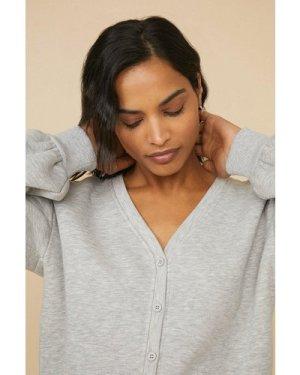 Womens Jersey Cardigan - grey marl, Grey Marl
