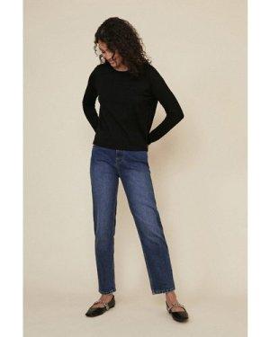 Womens Lace Back Jumper - black, Black