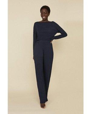 Womens Loungewear Wide Leg - navy, Navy