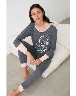 Trendyol Little Mistress x Trendyol Little Sweet Slogan Pyjamas size: