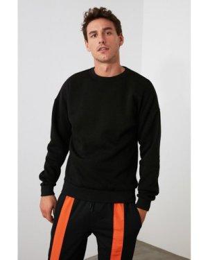 Trendyol Men's Black Sweater With Side Zip size: S, colour: Black