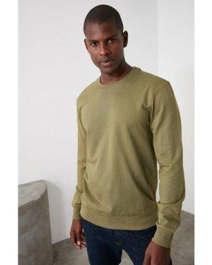 Trendyol Men's Khaki Long Sleeve Top size: XL, colour: Khaki
