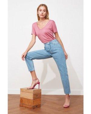 Trendyol Blue Mom Jeans size: 10 UK, colour: Blue