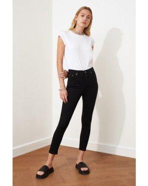 Trendyol Black Skinny Jeans size: 8 UK, colour: Black