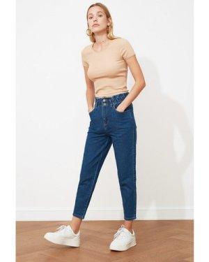Trendyol Blue Waist Jeans size: 14 UK, colour: Blue