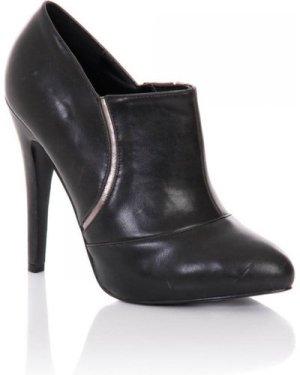 Little Mistress Footwear Black Stiletto Heel Ankle Boots size: Footwea