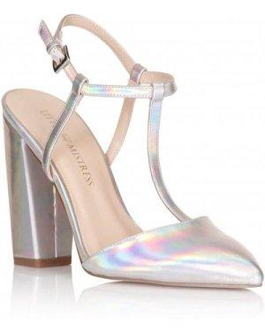 Little Mistress Footwear Holographic T-Bar Pointed Heels size: Footwea