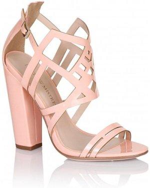 Little Mistress Footwear Pink Square Heel Strap Shoes size: Footwear 3