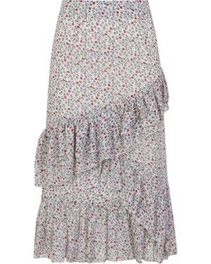 Ruffle Midi Skirt size: S, colour: Print