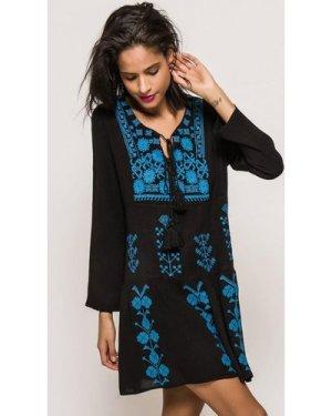 Embroidered Tunic size: M/L, colour: Blue / Black