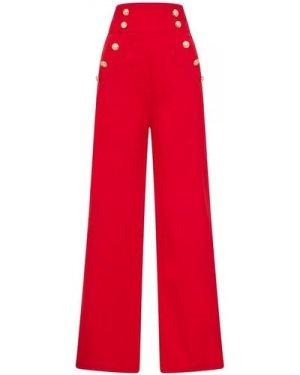Scorpio Button Trouser size: L, colour: Red