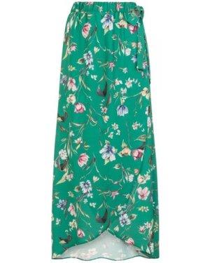 Reverie Wrapover Skirt size: S/M, colour: Green Print