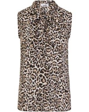 Leo Pussybow Blouse size: XL, colour: Leopard Print