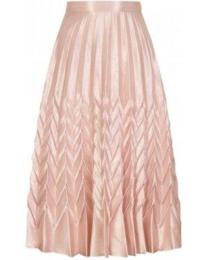 Mirage Chevron Pleat Skirt colour: Pink, size: S