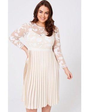 Little Mistress Curvy Ellis Buttercup Pleated Midaxi Dress size: 20 UK