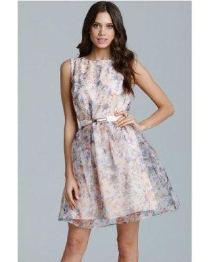 Little Mistress Floral Organza Prom Dress size: 10 UK, colour: Print