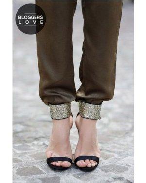 Little Mistress Black Glitter Cuff Two Strap Heels size: Footwear 3 UK