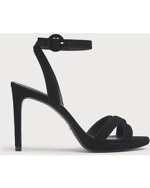 Neath Black Suede Platform Sandals, Black