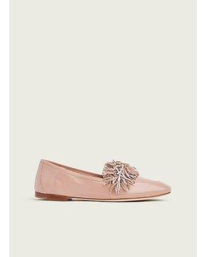 Lera Pink Leather Tassel Loafer, Dark Rose
