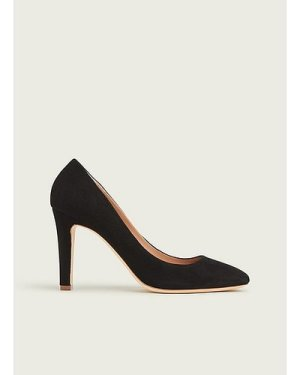 Fawn Black Suede Courts, Black