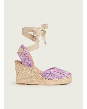 Sophie Lilac Tweed Espadrilles, Lilac