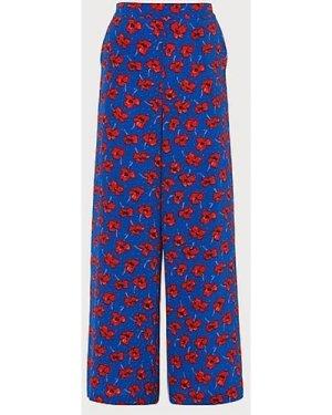 Lilou Poppy Print Silk Trousers, Poppy