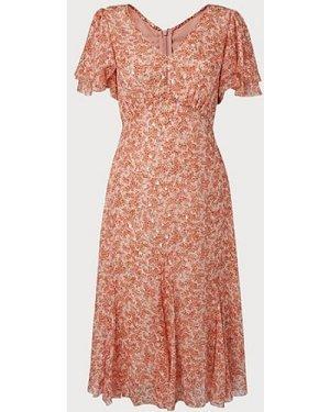 Cecilia Cream Silk Mix Dress, Pink